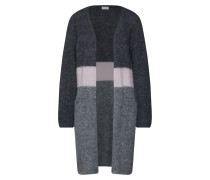 Cardigan grau / basaltgrau / rosa