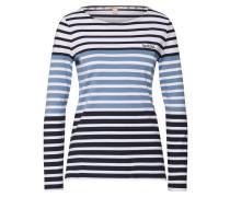 Shirt 'Tellin' navy / hellblau / weiß