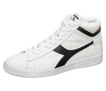 Sneaker 'Game L High Waxed' schwarz / weiß