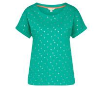 T-Shirt türkis / silber
