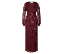 Maxikleid 'vicher L/S Maxi Dress/vta' weinrot