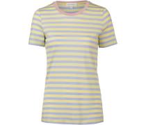 T-Shirt 'Lidaa' hellblau / hellgelb