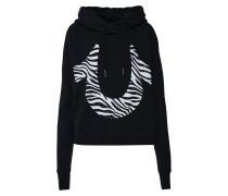 Sweatshirt mit Kapuze schwarz