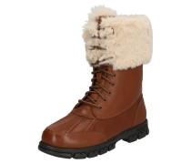 Snowboots cognac / weiß