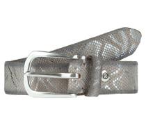 Ledergürtel mit Metallic-Schlangenprint