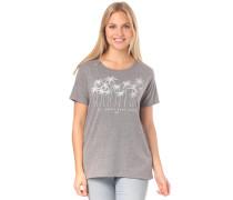 T-Shirt dunkelgrau / naturweiß