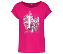 T-Shirt 1/2 Arm Shirt mit Frontdruck organic cotton mischfarben