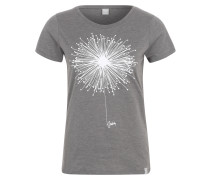 T-Shirt 'Blowball' graumeliert / weiß