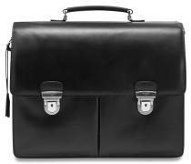 Aktentasche Leder 40 cm Laptopfach schwarz