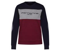 Sweatshirt 'azalea' grau / rot / schwarz