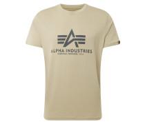 Print-Shirt oliv