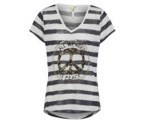 T-Shirt 'joyce' navy / weiß