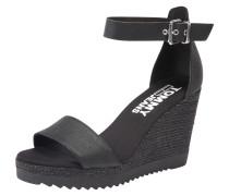 Wedge-Sandalen schwarz
