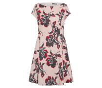 Kleid mit Blumenmuster dunkelgrau / rosé