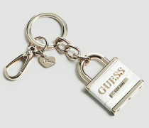Schlüsselanhänger 'Anne Marie' silber / weiß