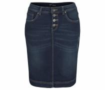Jeansrock mit Knopfleiste dunkelblau