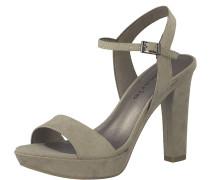 High-Heel Sandale grau