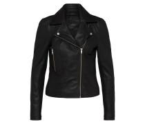 Jacke 'yassophie Leather' schwarz