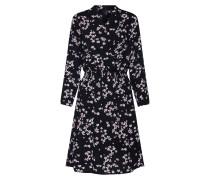 Kleid hellrot / schwarz / weiß