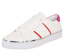 Sneaker weiß / cyclam / rot