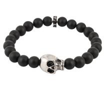 Armband mit Totenkopf schwarz