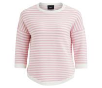 Strick-Pullover rosa / weiß