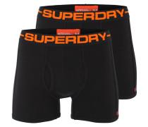 Sportliche Boxershorts orange / schwarz