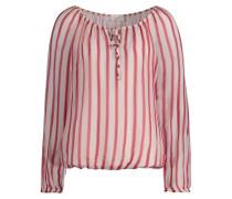 Bluse koralle / pink / weiß