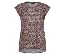 Shirt 'Erin' merlot / schwarz / weiß