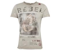 T-Shirt 'MT Rebellion round' grau