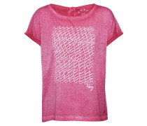 Shirt 'summertime Happiness' pink / weiß