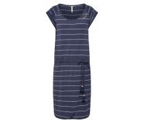 Kleid 'Glitter Organic' navy / weiß
