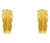 Ohrring 'Feder' gold