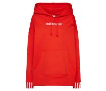 Sweatshirt cranberry / weiß
