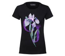 T-Shirt lila / schwarz