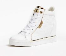 Sneaker 'Fabia' gold / weiß
