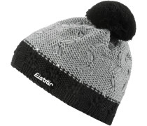 Mütze 'Crystal' grau / schwarz