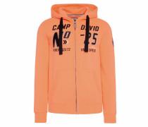 Hoodie orange / schwarz / weiß
