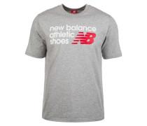 T-Shirt 'Essentials Normal' grau / rot