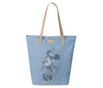 Denim-Shopper mit Disney-Motiv hellblau