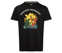T-Shirt 'Mito' mischfarben / schwarz