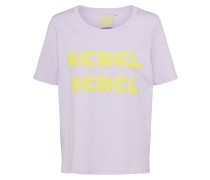T-Shirt 'ria S/S Print Jrs' gelb / lila