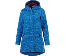 Mantel blau / mischfarben