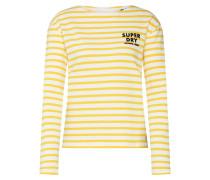 Shirt 'havana' gelb / weiß