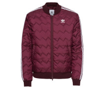 Jacke 'sst Quilted' weinrot