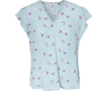 Bluse hellblau / pink / weiß