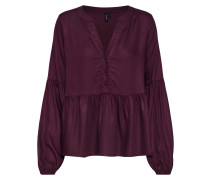 Bluse 'vmcharlie L/S Top' weinrot