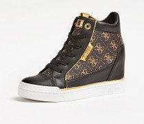 Sneaker 'Fabia' cognac / dunkelbraun