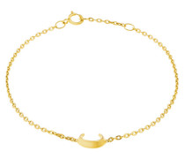 Crescent Moon Armband gold