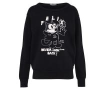 Sweatshirt 'Felix' schwarz / weiß